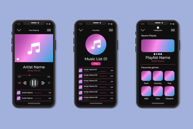 Music player app interface design