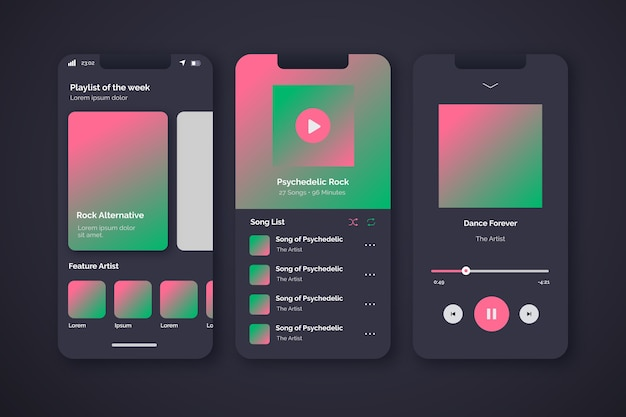 Music player app for mobile phones