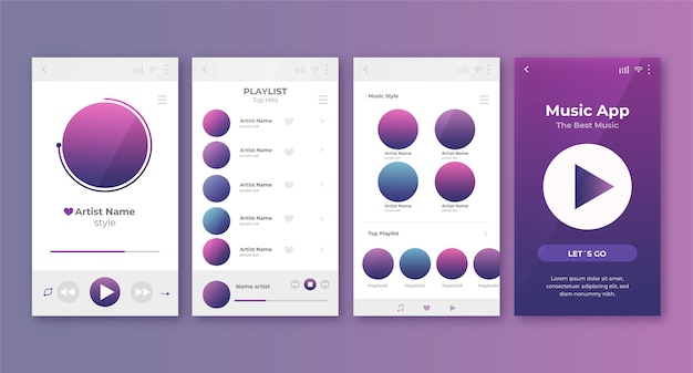 Music player app theme