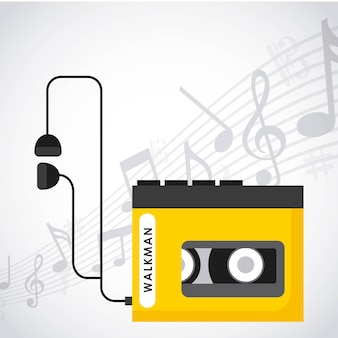 Music player design, vector illustration eps10 graphic