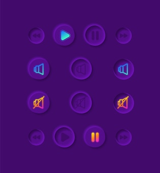 Music player ui elements kit