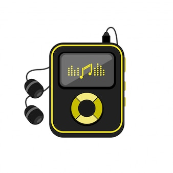 Music player with headphones icon.