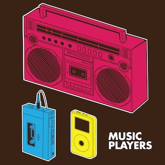 Music players evolution
