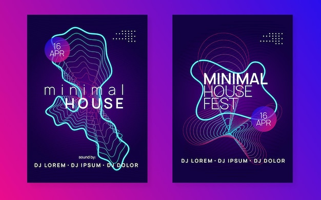Music poster. dynamic gradient shape and line