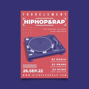 Music poster illustrated design