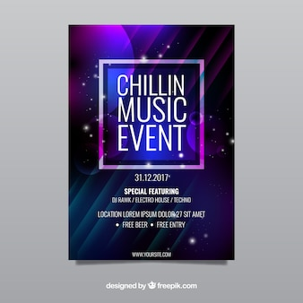 Шаблон плаката для музыки