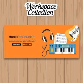 Music producer banner design
