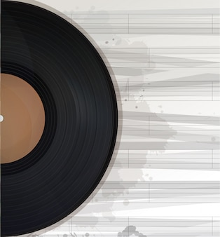 Music record background, text card with copy space