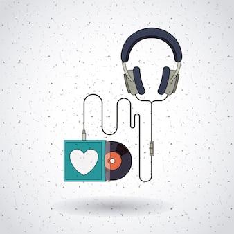 음악 레코드 디자인