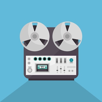 Music record device icon