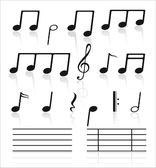 Music set of notes.