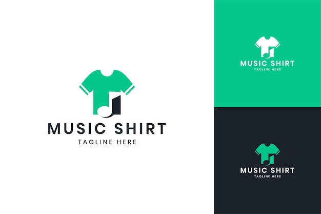 Music shirt negative space logo design