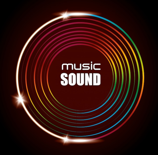 Music sound background design
