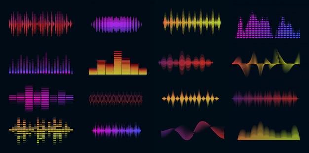 Музыка звуковых волн большой красочный набор.