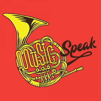 Music speak typography