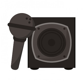 Music speaker and microphone