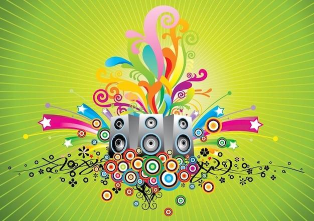 Music speakers vector