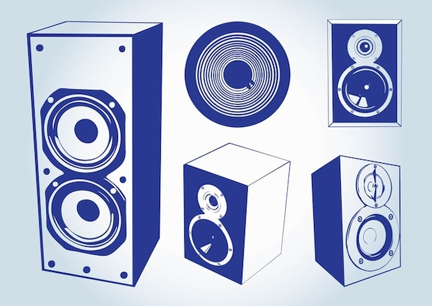 Music speakers vectors