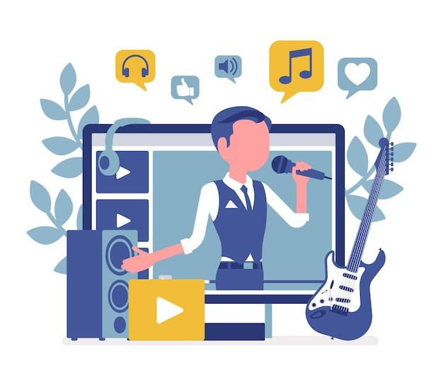 Music streamer boy