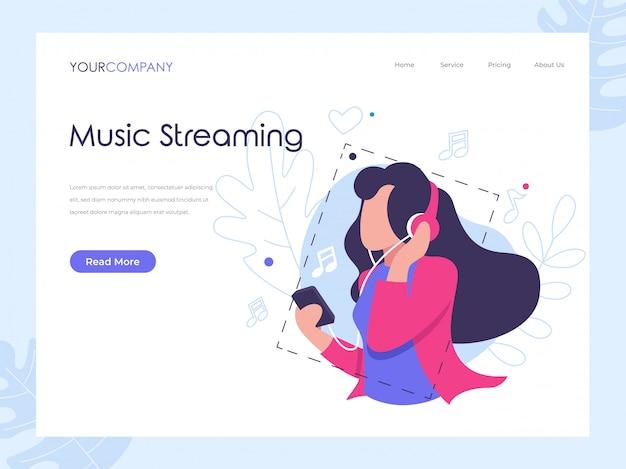 Music streaming landing lage