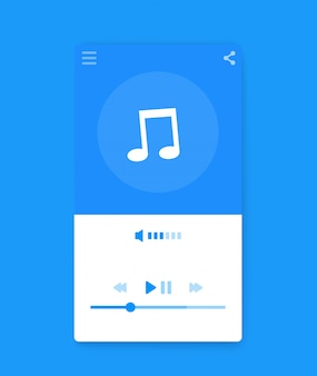 Music streaming player ui