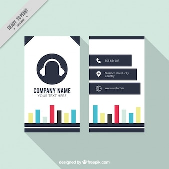 Music studio card