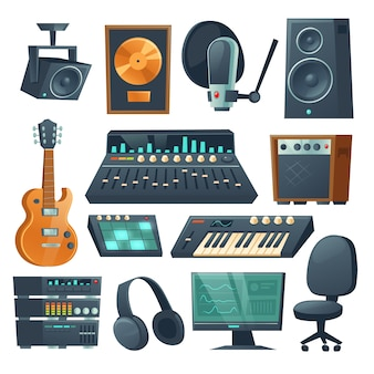 Music studio equipment for sound recording