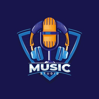Music studio logo.