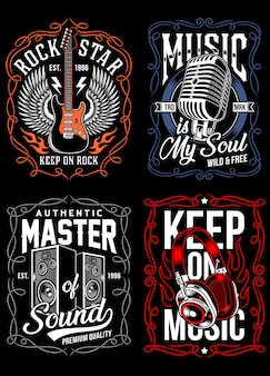 Music t-shirt design collection