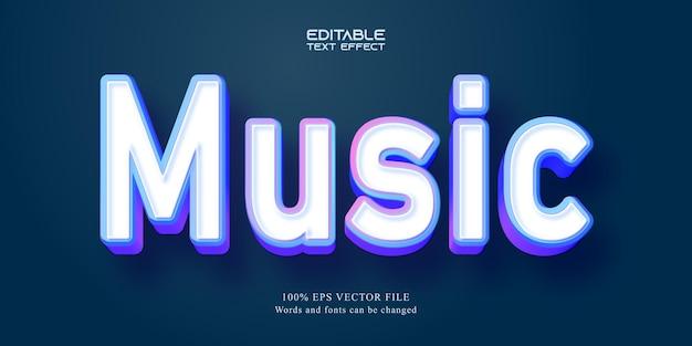 Music text, cartoon style editable text effect