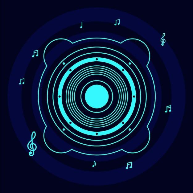 Музыкальная тема фон векторный дизайн