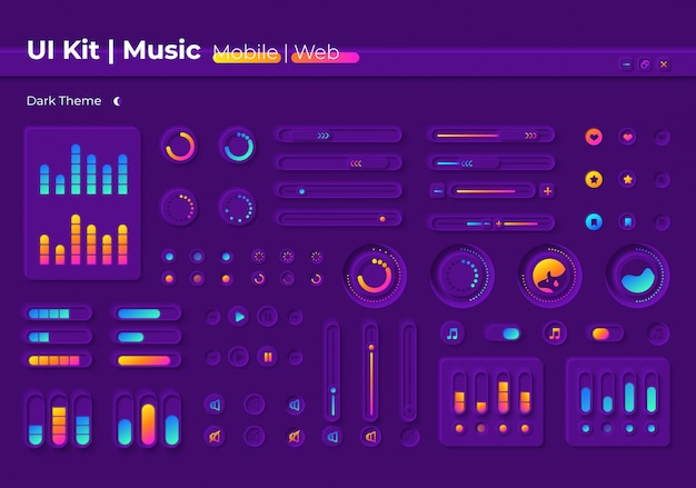 Music ui elements kit