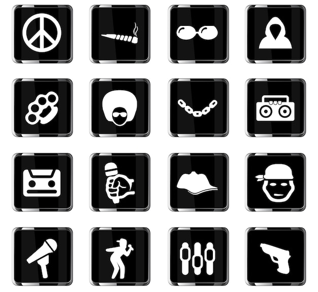 Music vector icons for user interface design