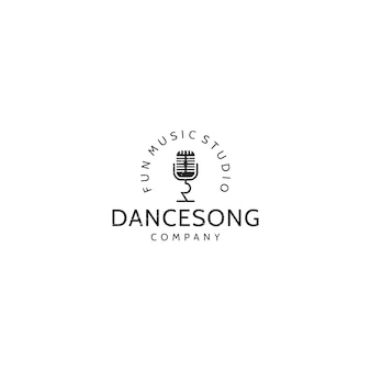 Music vintage logo