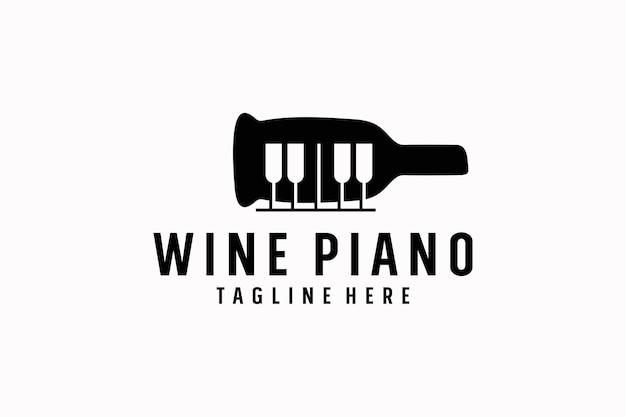 Music and wine bottle logo design