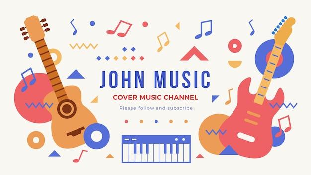 Grafica del canale youtube musicale