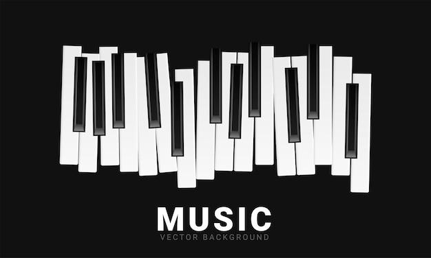 Музыкальный фон с клавишами пианино