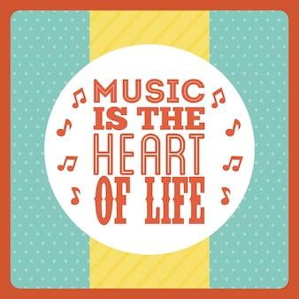 Musical design over dotted background vector illustration