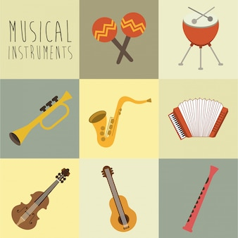 Музыкальный дизайн на белом фоне векторные иллюстрации
