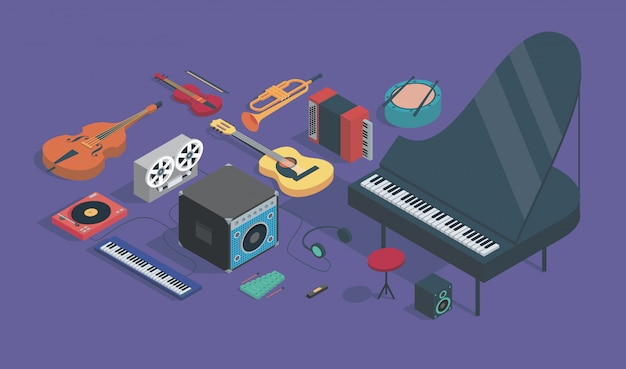 Musical instrument illustration