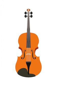 Musical instrument violin icon