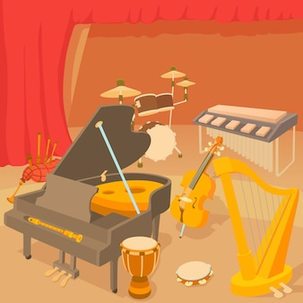 Musical instruments concept