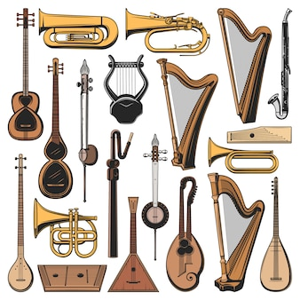 Musical instruments,   icons