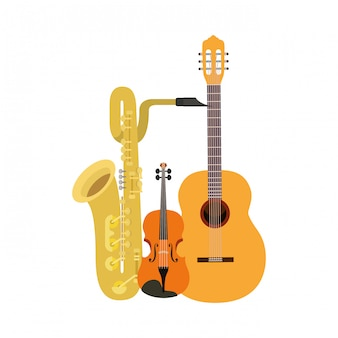 Musical instruments isolated