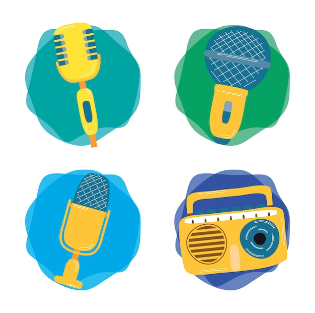 Musical instruments, microphones and radio