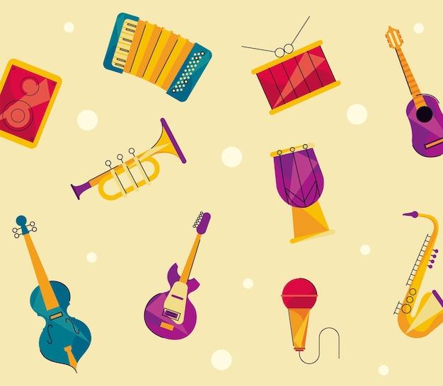 Образец музыкальных инструментов