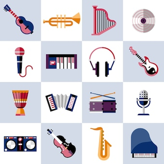 Musical instruments set
