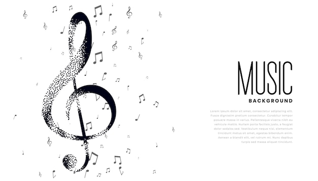 Musical notes background with text space