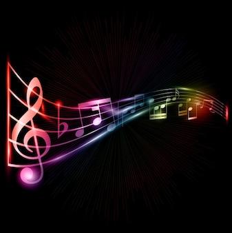 Музыкальные ноты фон