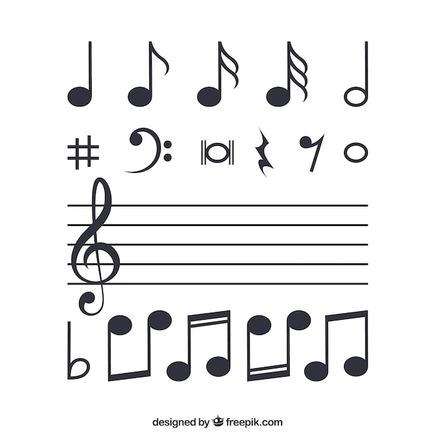 music vectors 18 100 free files in ai eps format rh freepik com Music Note Vector Backgrounds Wavy Music Notes Vector